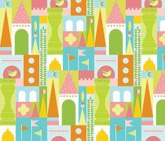 Castle Blocks Puzzle fabric by kayajoy on Spoonflower - custom fabric