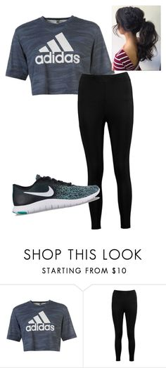 """Working out"" by rainbowzebra1017 on Polyvore featuring adidas, Boohoo and NIKE"