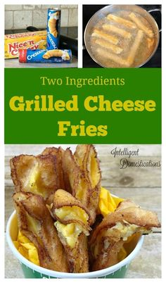 How to make Grilled Cheese fries. Two ingredient party food. Crescent roll recipes Four Ingredient recipe for a deep fried yummy cheesy snack. Fun Easy Recipes, Rib Recipes, Fall Recipes, Holiday Recipes, Delicious Recipes, Lentil Recipes, Cabbage Recipes, Noodle Recipes, Delicious Dishes