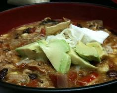 Slow-Cooker Chicken Tortilla Soup Recipe **Long list of ingredients, with a lot of spices needed, but I'm sure the average household will have on hand. Looks great!!