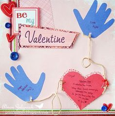 This is one of the activities for our preschool's Valentine's Day party!