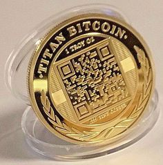 BITCOINS Gold Plated fine copper Titan Physical representation of Bitcoin! Commemorative Coins, Bitcoin Wallet, Challenge Coins, Day Trading, Cryptocurrency, Physics, Plating, Copper, Gold