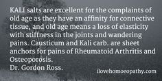 Kali salts- for old age- homeopathy