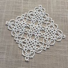 Tatting Pattern Magic Square Triangles