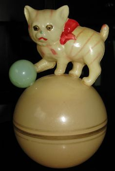 Celluloid baby rattle