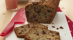 Simple and easy banana bread. Replace nuts with chcocolate chips and add a tsp of cinnamon Defoe a yummy twist.