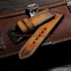 20mm-22mm-24mm-26mm-Handmade-Vintage-Brown-Genuine-Calf-Leather-Watch-Strap-Band