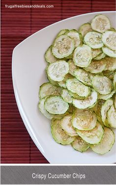 Crispy Cucumber Chips-- Easy, low calorie, nutrient-rich snack to get lean