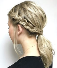 Top 60 All the Rage Looks with Long Box Braids - Hairstyles Trends Box Braids Hairstyles, Low Pony Hairstyles, French Braid Hairstyles, Cute School Hairstyles, Pretty Hairstyles, Hairstyles Videos, Hairstyles Pictures, Hairstyles 2018, Back To School Hairstyles Short