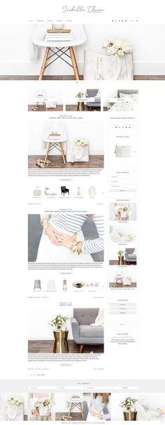 Isabelle - WordPress Theme by Bella Creative Studio on @creativemarket