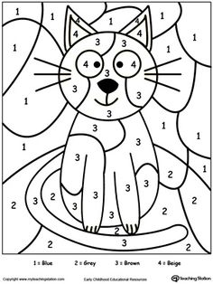 Color By Number Bird Free coloring Worksheets and Learning