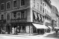 Lisboa de Antigamente: Loja da América: Rua Áurea, 206-208