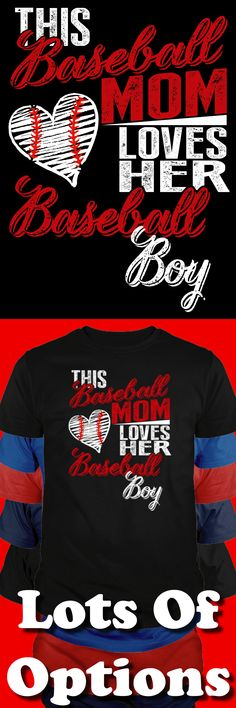 Discover Wear This Baseball Mom Shirt? T-Shirt, a custom product made just for you by Teespring. - This Baseball Mom Loves Her Baseball Boy Baseball Crafts, Baseball Quotes, Baseball Boys, Baseball Gear, Baseball Stuff, Baseball Mom Shirts Ideas, Baseball Nails, Rockies Baseball, Baseball Videos