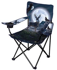 Wildlife Artist Collapsible Chair Deer ** You can find more details by visiting the image link.