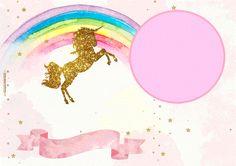 Imágenes Unicornios infantiles - marcos de unicornios - tarjetas unicornios - invitaciones con unicornios