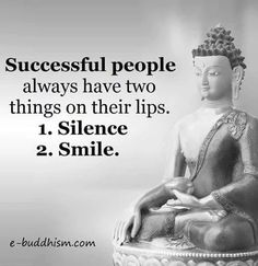 about silence and smile..