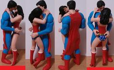 Superman and Wonder Woman Custom Wedding Cake Toppers by Jsebold87, $120.00