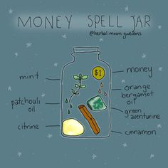 MONEY SPELL JAR 💰✨⁠⠀ I've had a few requests for a money spell this week, so here it is!⁠⠀ Get a small jar and cleanse it with… Jar Spells, Luck Spells, Magick Spells, Wiccan Spell Book, Wiccan Witch, Witch Spell, Spell Books, Pagan, Powerful Money Spells