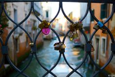 Venice Colorful Canal with love heart locks on bridge romantic colorful 10 x 15 Fine Art Signed Photograph Print  by LJAPhotography, $30.00 While others were looking at the canal i was looking at the railings on the bridge over the canal.  Beautiful padlocks of hearts where couples may have proposed or hearts were once broken.
