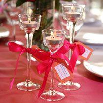 Bulk Wedding Idea: Tealight Candleholders as Favors at DollarTree.com