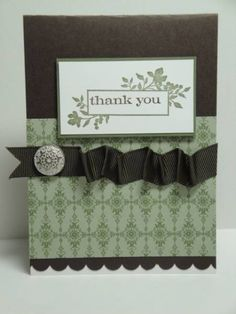 Stampin Up: Just Believe thank you #card.