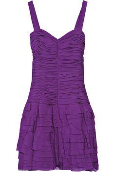 REBECCA TAYLOR  Tiered silk dress