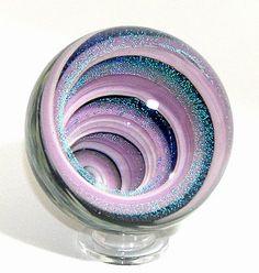 Lavender Cavern Art-Glass Lampwork Vortex Marble Paperweight by 'JWinterBlowerGlassArt' via flickr★❤★