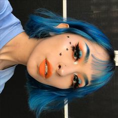 "22.7k Likes, 394 Comments - 🏁⚡️R I N⚡️🏁 (@gothfruits) on Instagram: ""The breeze gave me cliche model hair HEHE did a simple complimentary eye using the…"" Edgy Makeup, Makeup Art, Makeup Goals, Makeup Inspo, Makeup Tips, Beauty Makeup, Beauty Tips, Alternative Makeup, Models Makeup"