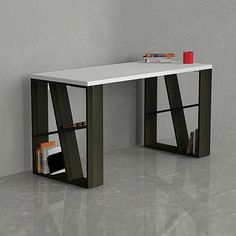 Honey Office Desk White Black, 325€, now featured on Fab.