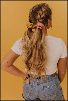 The Morgan Scrunchie – Frisuren – # Frisuren The Morgan Scrunchie - Hairstyles - Medium Hair Styles, Curly Hair Styles, Natural Hair Styles, Easy Hair Up Styles, Box Braids Hairstyles, Cute Hairstyles For Medium Hair, Wedding Hairstyles, Easy Long Hairstyles, Cute Fall Hairstyles