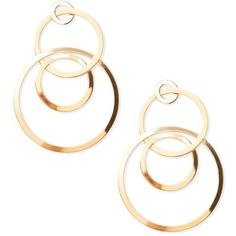 Forever 21 Cutout Circle Drop Earrings ($5.90) ❤ liked on Polyvore featuring jewelry, earrings, forever 21, post earrings, circular earrings, cut out earrings and forever 21 earrings