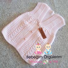 Sebahat Kutlu Sebahat Kutlu, the Knit Baby Dress, Crochet Baby Shoes, Crochet Baby Clothes, Sweater Knitting Patterns, Knitted Poncho, Baby Knitting, Knit Baby Sweaters, Girls Sweaters, Cardigan Sweaters