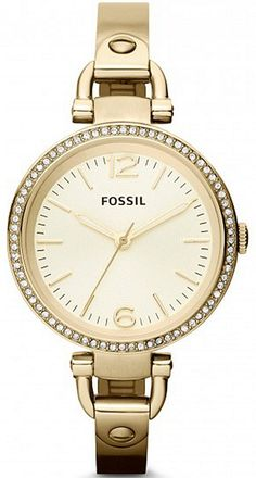 357e6e258b6 Fossil GEORGIA CHAMPAGNE GOLD PLATED STAINLESS LADIES Watch ES3227 BY Fossil  Couple Watch