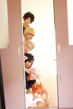 Yama, Tsukki, Bokuto, Kuroo, Suga and Hinata