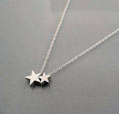 Small glowing star necklace turquoise necklace birthday gift silver star necklace sterling chain small dainty charm by b9studio 2600 aloadofball Image collections