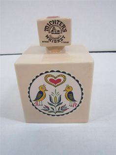 Vintage Michter's Whiskey Decanter Hex Signs Design Square Liquor Decanter