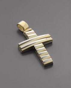 Σταυρός Χρυσός & Λευκόχρυσος Κ14 | eleftheriouonline.gr Christian Symbols, Cross Jewelry, Gold Cross, Christianity, Cufflinks, Pendants, My Favorite Things, Rings, Accessories