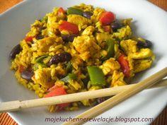 Moje                                                                       Kuchenne Rewelacje  : Kurczak z ryżem curry z czerwoną fasolą