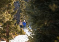 Sapphire Point Overlook Winter Colorado Proposal Hike in Woods