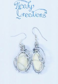 Wire Wrapped Shell Fragments by NealyCreations on Etsy
