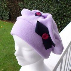 Bonnet chapeau béret parme marine enfant confortable unique hiver