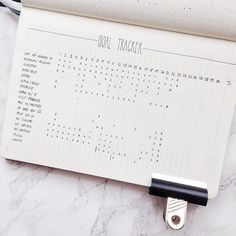 Bullet journal goal tracker, aka habit tracker
