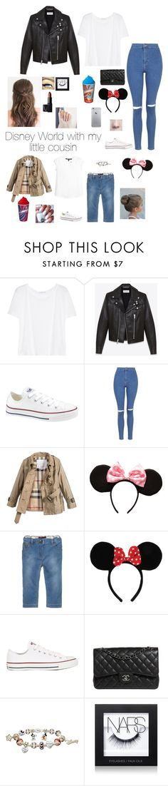 """Disney World with my little cousin"" by brenda-all-over ❤ liked on Polyvore featuring T By Alexander Wang, Yves Saint Laurent, Converse, Topshop, Burberry, LILI GAUFRETTE, Dolce&Gabbana, Chanel, The Bradford Exchange and Maybelline"