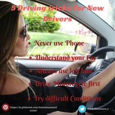 It is always an excitement to drive your car on you won after learning to drive and acquiring your driving license. 5 Basic Driving Tricks for new Drivers. Low Car Insurance, Classic Car Insurance, Auto Insurance Companies, Teen Driver, Car Quotes, Learning To Drive, Driving Tips, New Drivers