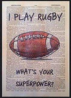 Impression murale Page de dictionnaire 1933 vintage Citation Rugby