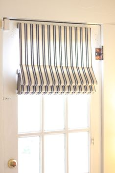 Fabric Blinds for French Doors | 287...sol's guest, office, workout lounge