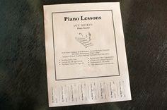Teaching Piano - Organization