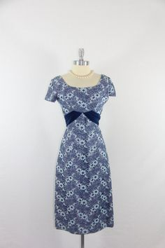 1950's  Dress  Vintage Blue Lace and by VintageFrocksOfFancy, $140.00