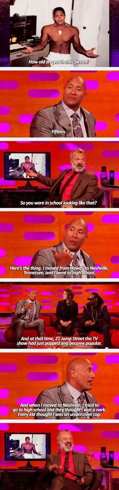 Dwayne Johnson The Rock Explains What It Was Like Going To High School 7 Pics
