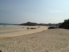 Porthmeor beach St Ives Cornwall - on a winters day.